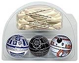 Death Star BB8 R2D2 Golf Balls with 20 Printed tees