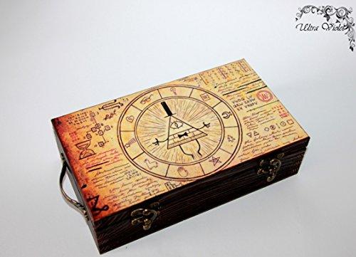 Exklusive Schatulle Gravity falls, Box, schachteln, wood, für schmuck,Holzkästchen, Jewelry Box, Kästchen, Handarbeit