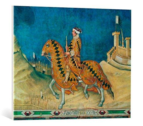 Kunst für Alle Cuadro en Lienzo: Simone Martini Equestrian Portait - Impresión...