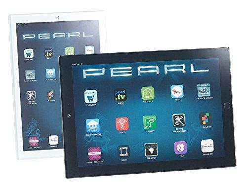 PEARL Glasschneidebrett: 2er-Set Glas-Schneidebretter im Tablet-Design, 23 x 16 cm & 19 x 13 cm (Frühstücksbrettchen Glas)