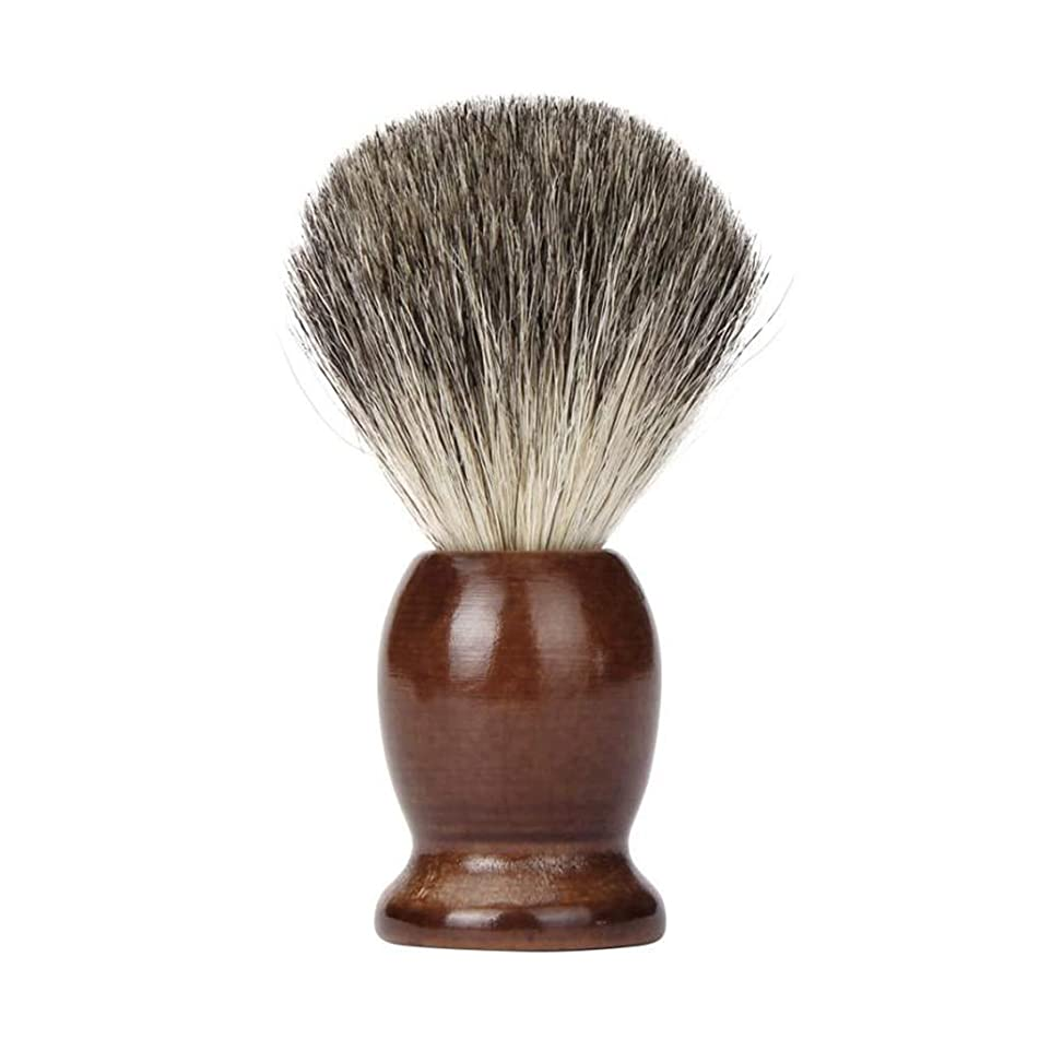Shaving Brush 100% Pure Badger Hair Wet Tool Shave Men Salon Barber Tool Brown Soft And Density Professional Wood