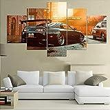5 Stück Leinwand Malerei Moderne Wandbilder Toyota Supra