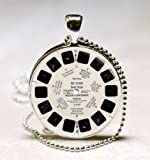 View Master Necklace Vintage Viewmaster Reel Viewfinder Eighties Fads Techie,Glass Art Jewelry Picture Pendant Photo Pendant Handcrafted Necklace