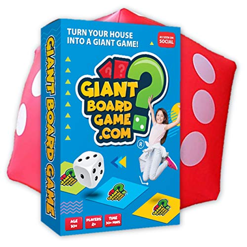 Giant Board Game - Kids, Teen & Family Outdoor Party & Quiz Game with Challenges & Questions. Plus Giant Dice!