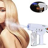 Alittle Pistola de vapor para el cabello Nano multifuncional, Spray para el cabello Nano Mister Hair Steamer Hair Care Spa Humidificador Herramienta para el cuidado del cabello, Hidratante (260 ml)
