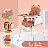 Baby dining chair Silla De Bebé Silla De Comedor Multifuncional Portátil 4 Colores Opcionales (Color : Brown)