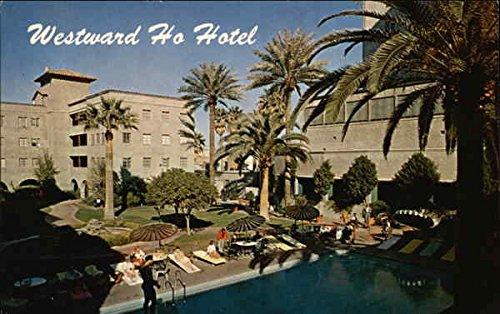 Westward Ho Hotel - Swimming Pool & Patio Phoenix, Arizona AZ Original Vintage Postcard