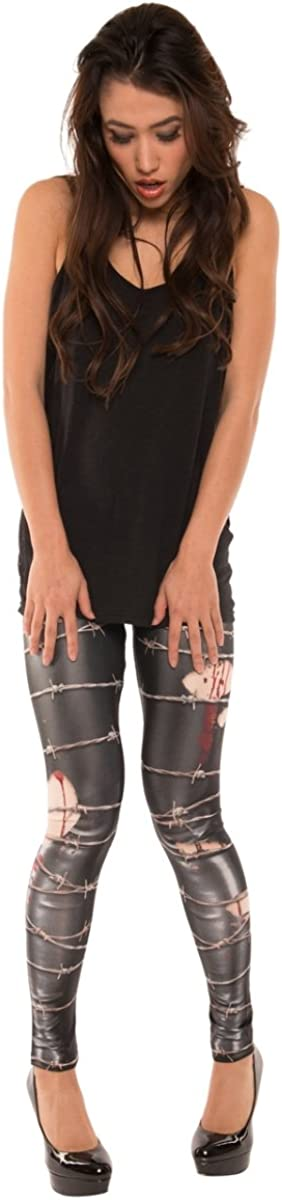 Faux Ranking TOP20 Real Women's Barbed Denver Mall Leggings Wire