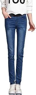 waotier Pantalones Vaqueros cómodos Pantalones de Mezclilla Mujeres Pantalones Sueltos de Cintura Alta Pantalones Casuales...