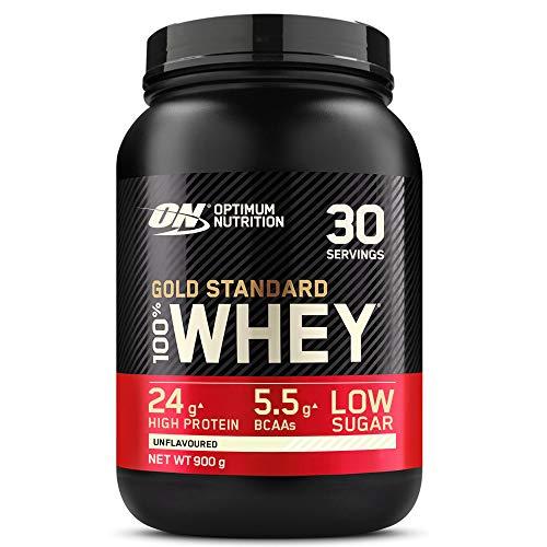 Optimum Nutrition Gold Standard 100% Whey Proteína en Polvo, Glutamina y...