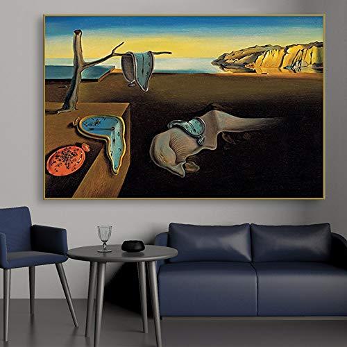 wZUN La persistencia de los Recuerdos de la Pintura Famosa Impresión en Lienzo Arte de la Pared póster imágenes decoración de la Sala de Estar 60x90 Sin Marco