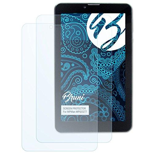 Bruni Schutzfolie kompatibel mit MPMan MPQCG77 Folie, glasklare Bildschirmschutzfolie (2X)