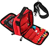 HUIZHU Empty Multi-Functional case Vape Carrying case Shoulder Bag (Red)