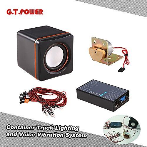 PKA G.T.Power - Sistema de iluminación y vibración de Voz para Camiones Tamiya RC4WD