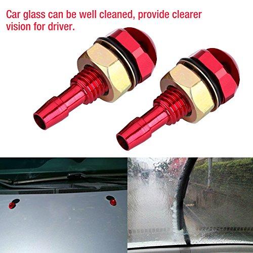 Boquilla de lavado duradera, boquilla de lavado de parabrisas resistente a la corrosión, universal para automóvil con tornillo, fácil de instalar para taller de reparación de(red)