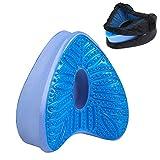 RYNX Memory Foam Knee Pillow, Summer and Autumn Models Cool Gel Leg Pillow, Ergonomic Leg Positioner Pillow Helps Relieve Back Pain for a Great Night's Sleep (Blue)