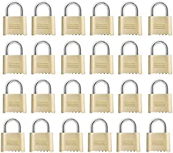 Master Lock 175D Resettable Set-Your-Own Combination Lock, Die-Cast, with 1-inch Shackle, 24-Pack,