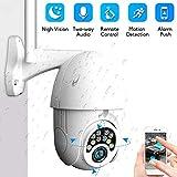 PTZ Camera Exterieur, Caméra Surveillance WiFi Audio Bidirectionnel, Vision Nocturne Infrarouge, Détection de Mouvement,...