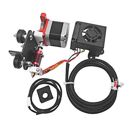 Aibecy Kit de alimentación de unidad de extrusora de filamento de 1.75mm con cabezal de impresión de boquilla de 0.4mm Soporte de motor Impresión de filamento de TPU para Ender 3/3 Pro Anet A8 Plus