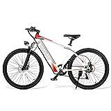 Carsparadisezone Bicicleta Eléctrica 250W 26 Pulgadas para Hombres Mujeres/Bicicleta de Montaña/e-Bike 36V 8AH Batería de Litio Shimano 7 Velocidades Frenos de Disco 3 Modos [EU Stock]