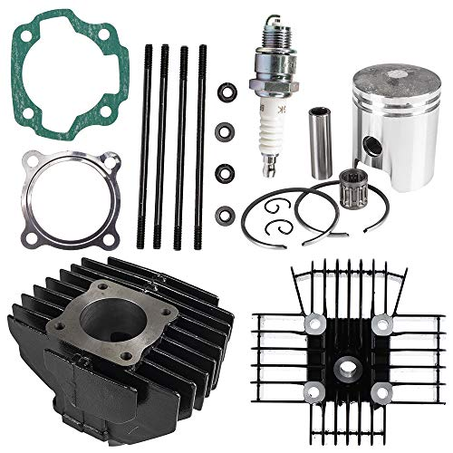 NICHE Cylinder Wiseco Piston Gasket Cylinder Head Top End Kit for Yamaha PW80 1983-2006