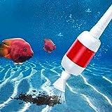 MC.PIG Pulizia del Filtro del Serbatoio di Pesce - Serbatoio di Pesce Automatico Elettrico Aspirapolvere Sifone Cambio Acqua per Pulizia Dell'Acquario Lavaggio di Sabbia Pompa per Letame di Pesce