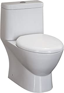 Fresca FTL2346 Serena Dual Flush Toilet with Soft Close Seat (1 Piece), Ceramic