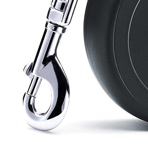 flexi Roll-Leine New Classic M-L Gurt 5 m schwarz für Hunde bis max. 50 kg - 4