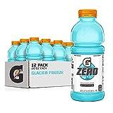 Gatorade Zero Sugar Thirst Quencher, Glacier Freeze, 20 Fl Oz (Pack of 12)