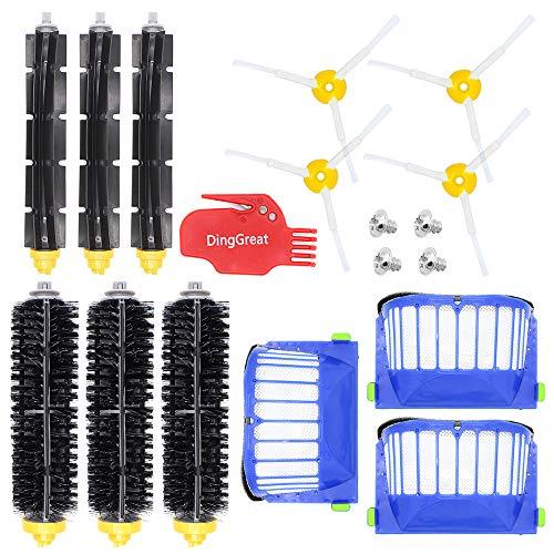 DingGreat Accessoire pour iRobot Roomba Série 600 Kit d'entretien avec Brosses & Filtres pour 600 605 610 615 616 620 621 625 630 631 632 650 651 660 670 680 691 696