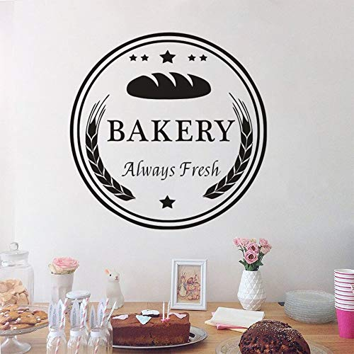 Bakery Shop Logo Window Wall Decal Cakes And Bread Store Decoration Fresh Baking Bread Wall Decal Restaurant Vinyl Mural AZ851