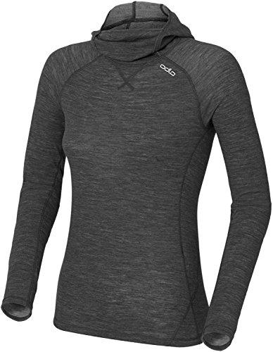 Odlo Revolution Warm T-Shirt à Manches Longues et col Masque pour Femme XS Noir chiné