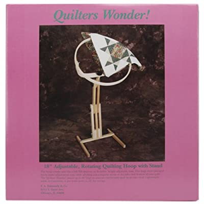 """F.a. Edmunds Quilters Wonder Adjustable Quilting Hoop Frame With Stand,18"""" round"""