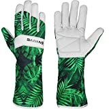 Leather Gardening Gloves Ladies Men/Women Short & Long Forearm Protection Thorn Proof Breathable