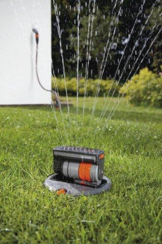 GARDENA Sprinklersystem Komplett-Set mit Versenk-Viereckregner OS 140: Bewässerungssystem für quadratische und rechteckige Flächen bis max 140 m², ebenerdig montiert (8221-20) - 2