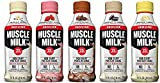 Muscle Milk Genuine Non Dairy Protein Shake, 5 Flavor Variety Pack, 25g Protein, 14 FL OZ (Pack of 10)