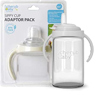 Cherub Baby Sippy Cup Adaptor Pack for Wideneck Bottles,