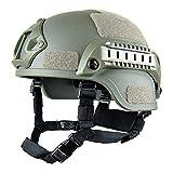 Elmetti protettivi Airsoft, Casco tattico militare versione azione MICH 2001 | Protezione testa unisex Airsoft Gear Paintball con supporto NVG e guide laterali per gioco CS all'aperto