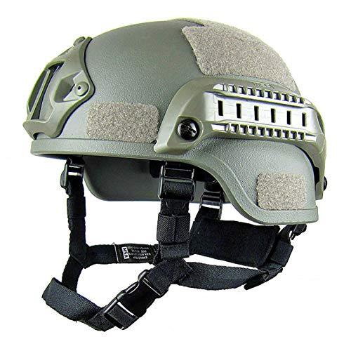Casco de protección, MICH 2001 versión de acción militar | Protector de cabeza de paintball unisex con soporte NVG y rieles laterales para juegos CS al aire libre