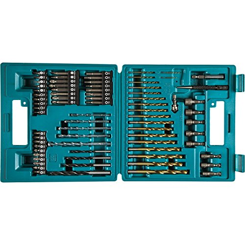 Makita B-49373 Drill and Screw Bit, 18 V, Blue, Set of 75 Pieces