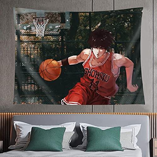 Tapiz de impresión 3D Slam Dunk de moda resistente al desgaste Tapiz decorativo de pared El dormitorio Decoración Tapiz