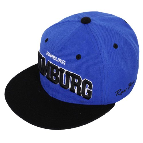 Raw Blue Cityline Hamburg Snapback Cap in Royal / Black