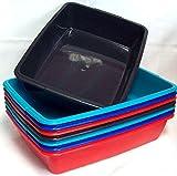 2x cubo de 40cm Tamaño Mediano de plástico Bandeja para arena de gato, Home bandeja, varios colores
