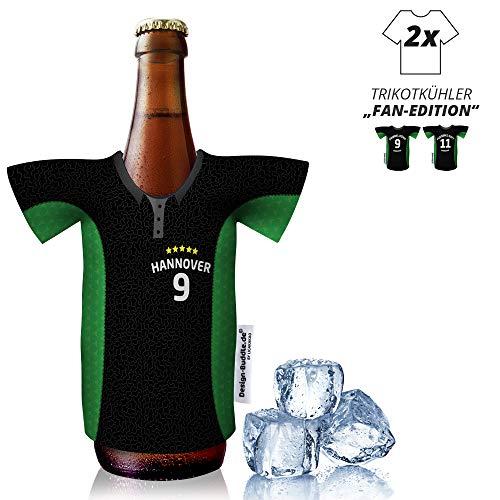 vereins-Trikot-kühler Home für Hannover 96-Fans | 2er Fan-Edition| 2X Trikots | Fußball Fanartikel Jersey Bierkühler by Ligakakao
