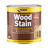 Everbuild Quick Drying Professional Solvent Free Satin Finish Wood Stain, Mahogany, 750 ml