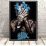 MONBAI Wiz Khalifa Poster Druckt Rapper Sänger Hip Hop