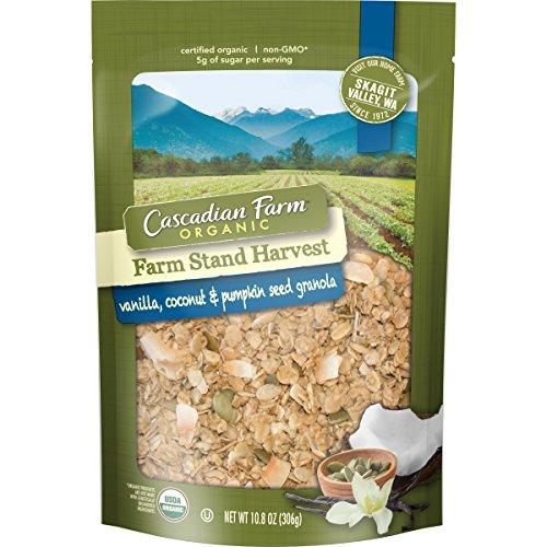 Cascadian Farm Organic Farm Stand Harvest Vanilla, Coconut & Pumpkin Seed Granola 10.8 oz. Pouch