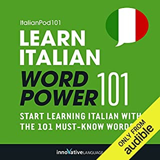 Learn Italian - Word Power 101 audiobook cover art