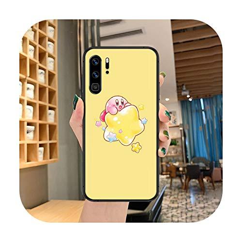 Lindo Kirby Mass Attack Funda de teléfono para Huawei P Mate Smart 10 20 30 40 Lite Z 2019 Pro negro parachoques de moda cubierta de la célula 3D Etui-9-P30 Pro
