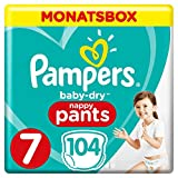Pampers Baby-Dry Pants, Gr. 7, 17+ kg, Monatsbox, 1er Pack (1 x 104 Stück)